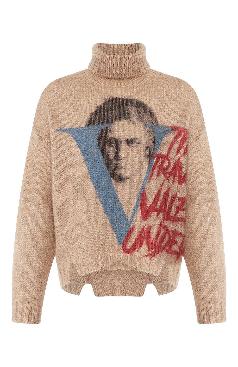 Мужской свитер VALENTINO бежевого цвета, арт. SV0KC05W5QR | Фото 1
