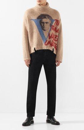 Мужской свитер VALENTINO бежевого цвета, арт. SV0KC05W5QR | Фото 2