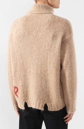 Мужской свитер VALENTINO бежевого цвета, арт. SV0KC05W5QR | Фото 4