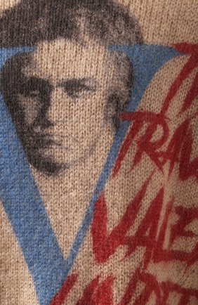 Мужской свитер VALENTINO бежевого цвета, арт. SV0KC05W5QR | Фото 5