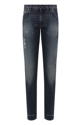 Мужские джинсы DOLCE & GABBANA синего цвета, арт. GYJCCD/G8BG1 | Фото 1