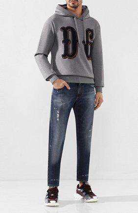Мужские джинсы DOLCE & GABBANA синего цвета, арт. GYJCCD/G8BG1 | Фото 2