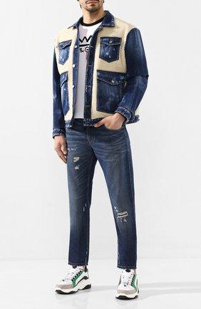 Мужские джинсы DOLCE & GABBANA синего цвета, арт. GYJCCD/G8BG2   Фото 2