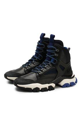 Мужские кожаные кроссовки tristan MONCLER синего цвета, арт. E2-09A-10407-00-02S17   Фото 1