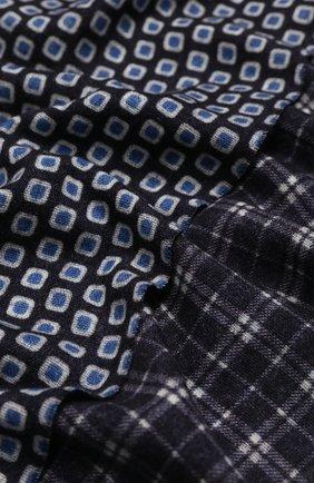 Мужской шерстяной шарф ALTEA синего цвета, арт. 1960069   Фото 2