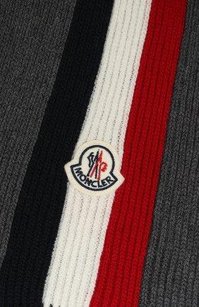 Мужской шерстяной шарф MONCLER темно-серого цвета, арт. E2-091-00026-00-02292 | Фото 2