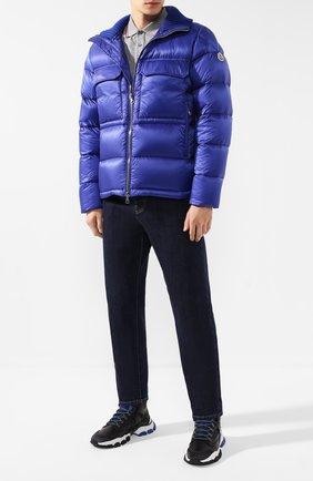 Мужская пуховая куртка rouve MONCLER синего цвета, арт. E2-091-40825-05-53334 | Фото 2
