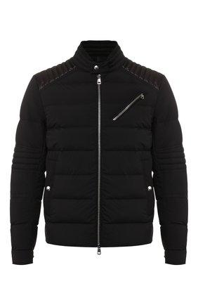 Мужская пуховая куртка samalens MONCLER черного цвета, арт. E2-091-40910-95-C0145 | Фото 1