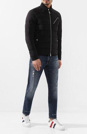 Мужская пуховая куртка samalens MONCLER черного цвета, арт. E2-091-40910-95-C0145 | Фото 2