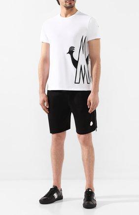 Мужская хлопковая футболка MONCLER белого цвета, арт. E2-091-80461-50-V8043 | Фото 2
