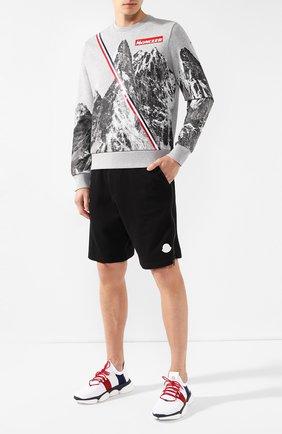 Мужской хлопковый свитшот MONCLER серого цвета, арт. E2-091-80479-50-8098U | Фото 2