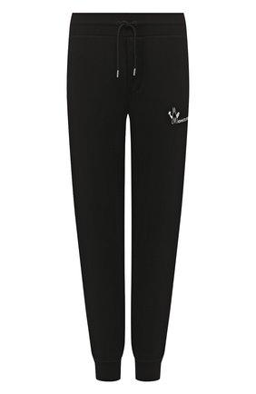 Мужской хлопковые джоггеры MONCLER черного цвета, арт. E2-091-87081-50-V8077 | Фото 1