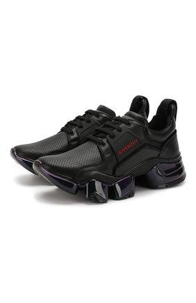 Кожаные кроссовки Jaw Givenchy черные | Фото №1