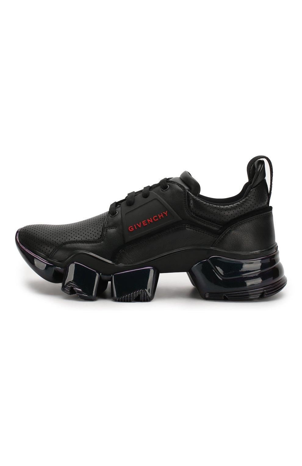 Кожаные кроссовки Jaw Givenchy черные | Фото №3