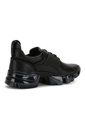 Кожаные кроссовки Jaw Givenchy черные | Фото №4