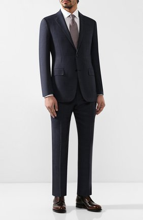 Мужской костюм из смеси шерсти и шелка ERMENEGILDO ZEGNA синего цвета, арт. 616596/221225 | Фото 1