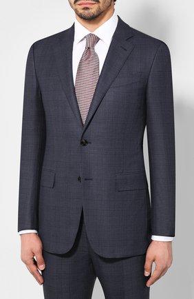 Мужской костюм из смеси шерсти и шелка ERMENEGILDO ZEGNA синего цвета, арт. 616596/221225 | Фото 2