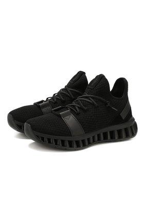 Мужские текстильные кроссовки techmerino a-maze Z ZEGNA черного цвета, арт. A4308X-LHTGS | Фото 1