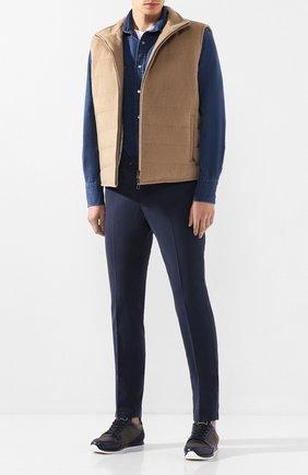 Мужская джинсовая рубашка TOM FORD светло-голубого цвета, арт. 6FT420/94MEKI | Фото 2