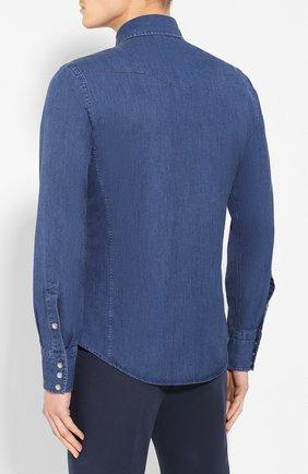 Мужская джинсовая рубашка TOM FORD светло-голубого цвета, арт. 6FT420/94MEKI | Фото 4