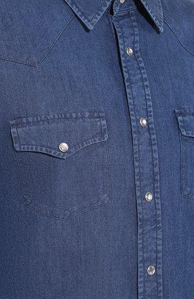 Мужская джинсовая рубашка TOM FORD светло-голубого цвета, арт. 6FT420/94MEKI | Фото 5