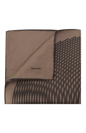 Мужской шелковый платок TOM FORD коричневого цвета, арт. 6TF103/TF312   Фото 1