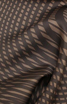 Мужской шелковый платок TOM FORD коричневого цвета, арт. 6TF103/TF312   Фото 2