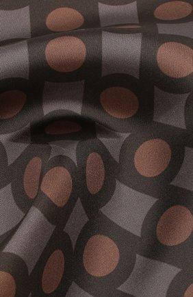 Мужской шелковый платок TOM FORD коричневого цвета, арт. 6TF99/TF312   Фото 2
