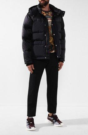 Мужская пуховая куртка GUCCI черного цвета, арт. 553281/Z4218 | Фото 2