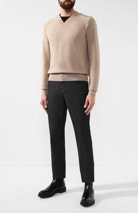 Мужской кашемировый пуловер TOM FORD бежевого цвета, арт. BTK66/TFK300 | Фото 2