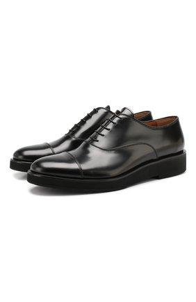 Мужские кожаные оксфорды PREMIATA черного цвета, арт. E2126/REAL   Фото 1