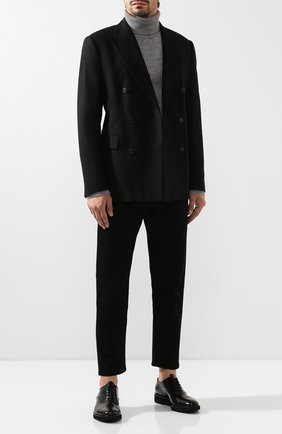Мужские кожаные оксфорды PREMIATA черного цвета, арт. E2126/REAL   Фото 2