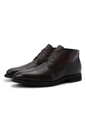 Мужские кожаные ботинки BARRETT темно-коричневого цвета, арт. 132U076.16/BETIS CREAM | Фото 1