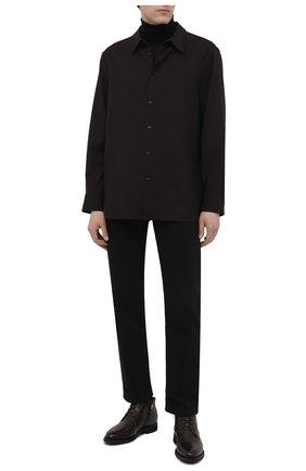 Мужские кожаные ботинки BARRETT темно-коричневого цвета, арт. 132U076.16/BETIS CREAM   Фото 2