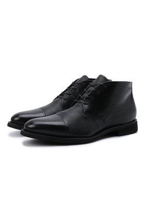 Мужские кожаные ботинки BARRETT черного цвета, арт. 132U076.4/VITELL0 | Фото 1
