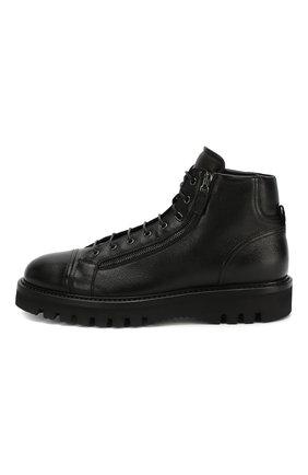 Мужские кожаные ботинки W.GIBBS черного цвета, арт. 0672001/1297   Фото 3