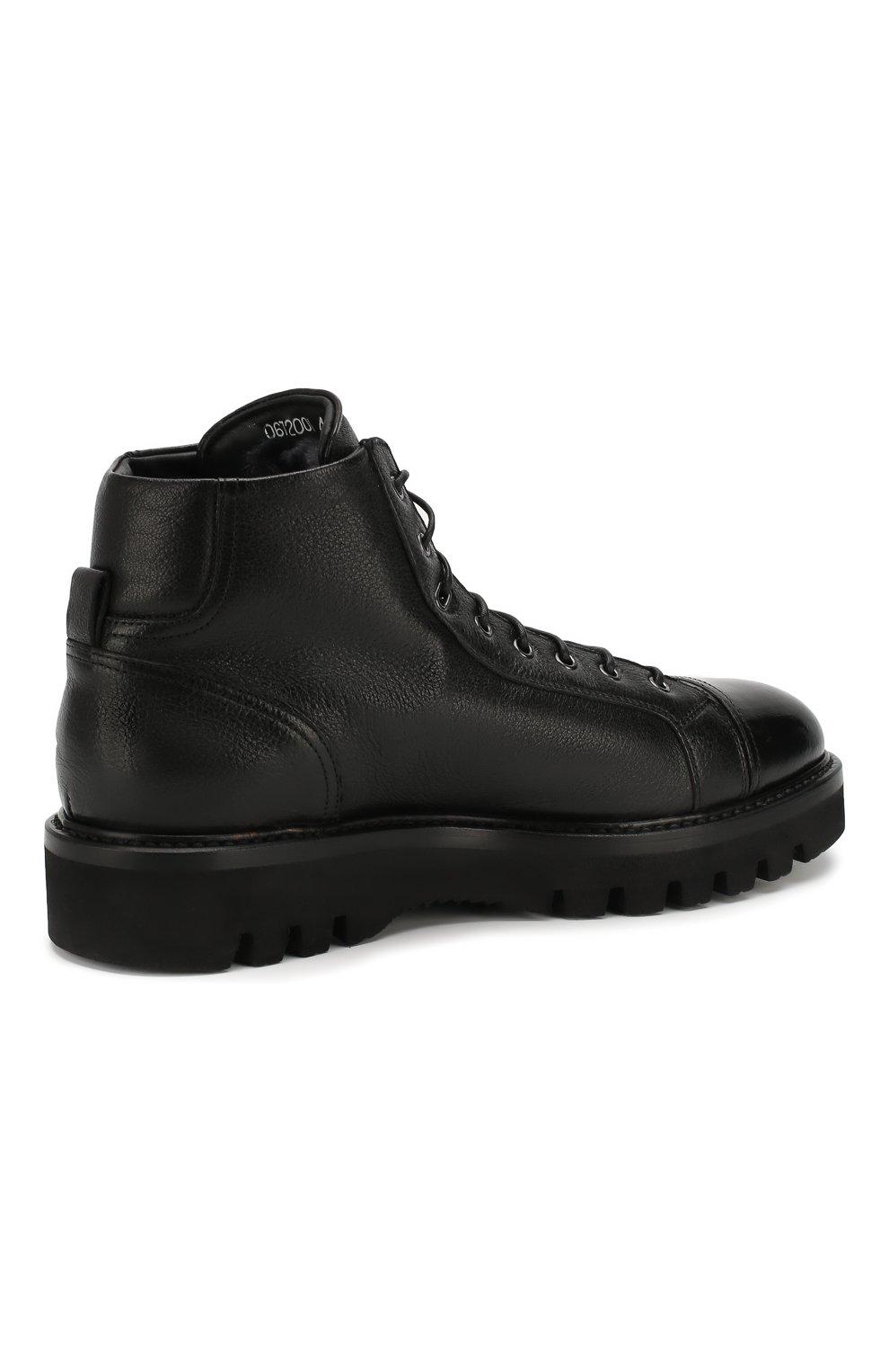 Мужские кожаные ботинки W.GIBBS черного цвета, арт. 0672001/1297   Фото 4