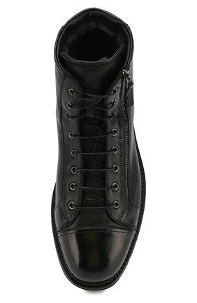 Мужские кожаные ботинки W.GIBBS черного цвета, арт. 0672001/1297   Фото 5