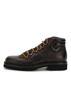 Мужские кожаные ботинки ALDO BRUE темно-коричневого цвета, арт. AB6083H-CBY | Фото 3