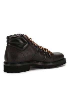 Мужские кожаные ботинки ALDO BRUE темно-коричневого цвета, арт. AB6083H-CBY | Фото 4