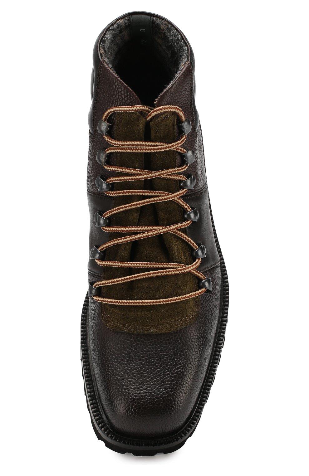 Мужские кожаные ботинки ALDO BRUE темно-коричневого цвета, арт. AB6083H-CBY | Фото 5