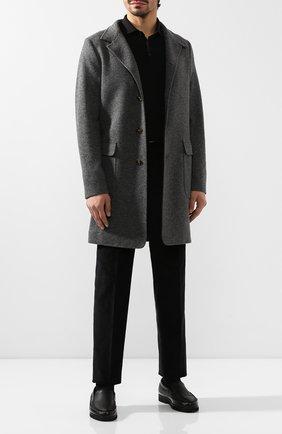 Мужские кожаные лоферы ALDO BRUE черного цвета, арт. AB8108H-NLN   Фото 2