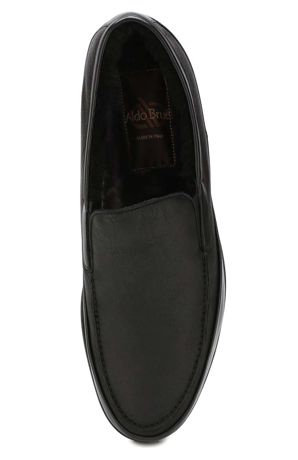 Мужские кожаные лоферы ALDO BRUE черного цвета, арт. AB8108H-NLN   Фото 5