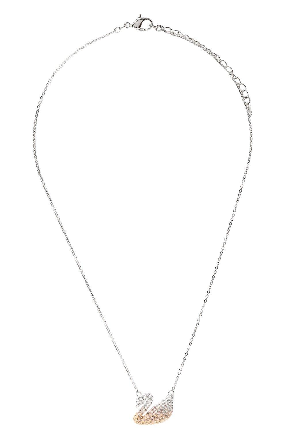 Женская кулон iconic swan SWAROVSKI серебряного цвета, арт. 5215034   Фото 1