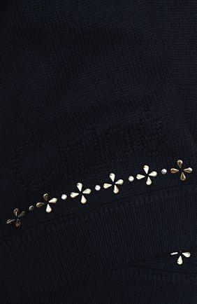 Детский шарф из хлопка и шерсти CHLOÉ синего цвета, арт. C11666 | Фото 2