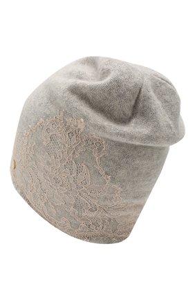 Женский кашемировая шапка VINTAGE SHADES светло-серого цвета, арт. 13452P | Фото 2
