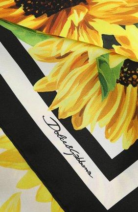 Женский шелковый платок DOLCE & GABBANA желтого цвета, арт. FN090R/GD040 | Фото 2