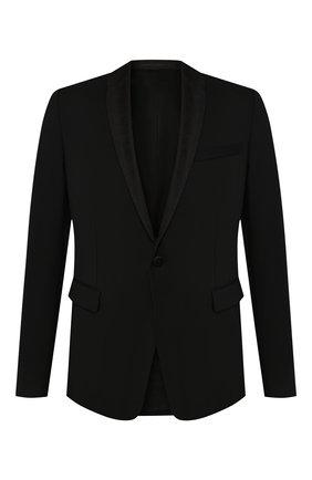 Мужской шерстяной пиджак BERLUTI черного цвета, арт. R16GCL50-001 | Фото 1