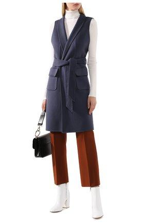 Женский кашемировый жилет LORO PIANA синего цвета, арт. FAG3518 | Фото 2