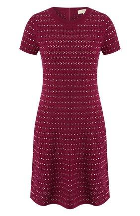 Женское платье MICHAEL MICHAEL KORS бордового цвета, арт. MU98YWC5ZV | Фото 1